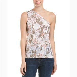 Rebecca Taylor PENELOPE Floral Linen One Shoulder